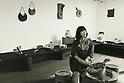Undated - Asuka Tsuboi was a Japanese ceramist. (Photo by Koichi Saito/AFLO)