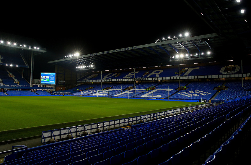 A general view of Goodison Park, home of Everton<br /> <br /> Photographer Alex Dodd/CameraSport<br /> <br /> The Premier League - Everton v Newcastle United  - Tuesday 21st January 2020 - Goodison Park - Liverpool<br /> <br /> World Copyright © 2020 CameraSport. All rights reserved. 43 Linden Ave. Countesthorpe. Leicester. England. LE8 5PG - Tel: +44 (0) 116 277 4147 - admin@camerasport.com - www.camerasport.com
