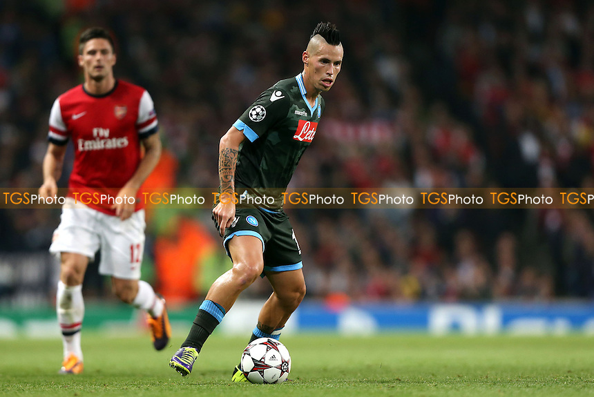 Marek Hamsik of Napoli - Arsenal vs Napoli, Champions League Group F game at the Emirates Stadium, Arsenal - 01/10/13 - MANDATORY CREDIT: Rob Newell/TGSPHOTO - Self billing applies where appropriate - 0845 094 6026 - contact@tgsphoto.co.uk - NO UNPAID USE