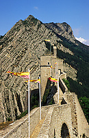 France. Sisteron. The ramparts of the 13th/16th Century Citadel. Gateway of Provence..