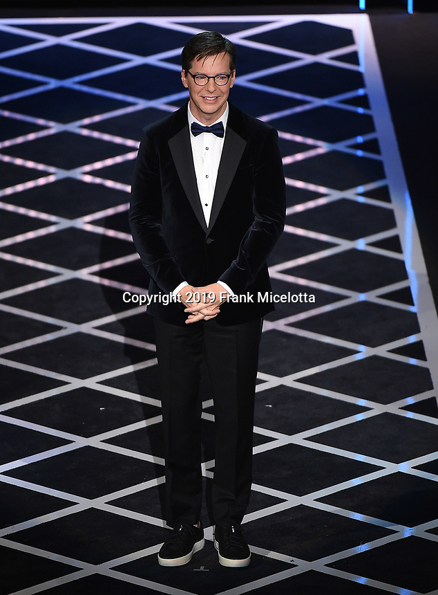 """BEVERLY HILLS - SEPTEMBER 7: Roast Master Sean Hayes appears onstage at the """"Comedy Central Roast of Alec Baldwin"""" at the Saban Theatre on September 7, 2019 in Beverly Hills, California. (Photo by Frank Micelotta/PictureGroup)"""