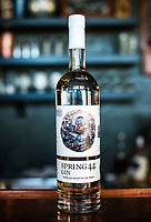 Spring 44 gin at their distillery in Loveland, Colorado, Tuesday, February 15, 2017. Spring44, which makes craft vodka and gin, uses only pure water collected from a spring located in Colorado's Buckhorn Canyon. <br /> <br /> Photo by Matt Nager