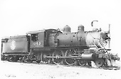 3/4 engineer's-side view of Great Northern Ten-Wheeler #1053.<br /> Great Northern