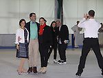 All Children's Rebecca Budig and Douglas Webster (artistic director) are hosts and also skated pose with Moira North (founder/director) at Ice Theatre of New York's Celeb Skate 2013 on June 9, 2013 at the Sky Rink at Chelsea Piers, New York City, New York. (Photo by Sue Coflin/Max Photos)