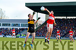 Mikey Geaney Dingle in action against Colm Cooper of Dr. Crokes during the Kerry County Senior Club Football Championship Final match between Dr Crokes and Dingle at Austin Stack Park in Tralee, Kerry on Sunday.