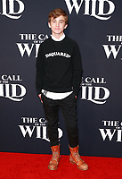 HOLLYWOOD, CA - FEBRUARY 13; Parker Bates at The Call Of The Wild World Premiere on February 13, 2020 at El Capitan Theater in Hollywood, California. Credit: Tony Forte/MediaPunch