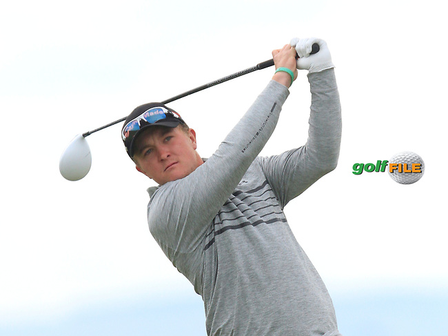 Richard James (Wales) on the 3rd tee during Round 3 of the Irish Amateur Open Championship at Royal Dublin on Saturday 9th May 2015.<br /> Picture:  Thos Caffrey / www.golffile.ie