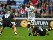 1st October 2017, Ricoh Arena, Coventry, England; Aviva Premiership rugby, Wasps versus Bath Rugby;  Taulupe Faletau on the charge for Bath