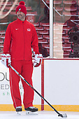 Brian Eklund (BU - Volunteer Assistant Coach-Goaltenders) - The Boston University Terriers practiced on the rink at Fenway Park on Friday, January 6, 2017.The Boston University Terriers practiced on the rink at Fenway Park on Friday, January 6, 2017.