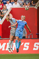 Bridgeview, IL - Sunday September 03, 2017: Samantha Mewis, Julie Ertz during a regular season National Women's Soccer League (NWSL) match between the Chicago Red Stars and the North Carolina Courage at Toyota Park. The Red Stars won 2-1.