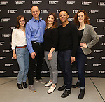 "Selina Fillinger, Daniel Jenkins, Kathryn Erbe, Christopher Livingston and Margot Bordelon during the Photo Call for the Roundabout Theatre Production of ""Something Clean"" at the Roundabout Theatre Company Rehearsal Studios on April 11, 2019 in New York City."