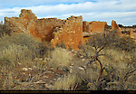 Hovenweep House and Hovenweep Castle, Anasazi Hisatsinom Ancestral Puebloan Site, Square Tower Settlement, Little Ruin Canyon, Hovenweep National Monument, Colorado - Utah Border