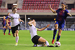 UEFA Women's Champions League 2017/2018.<br /> Round of 16.<br /> FC Barcelona vs Gintra Universitetas: 3-0.<br /> Vestina Neverdauskaite vs Leila Ouahabi.