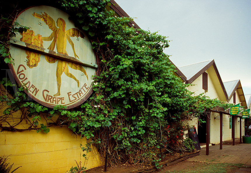 Entrance to the Golden Grape Winery's tasting room, Hunter Valley, Australia