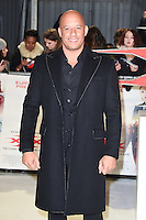 Vin Diesel at the premiere of &quot;xXx-Return of Xander Cage&quot; at the O2 Cineworld, London, UK. <br /> 10th January  2017<br /> Picture: Steve Vas/Featureflash/SilverHub 0208 004 5359 sales@silverhubmedia.com