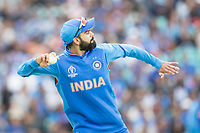 Virat Kolli (India) fields from long on during India vs Australia, ICC World Cup Cricket at The Oval on 9th June 2019