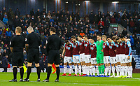 Both teams observe a minute's silence<br /> <br /> Photographer Alex Dodd/CameraSport<br /> <br /> The Premier League - Burnley v Fulham - Saturday 12th January 2019 - Turf Moor - Burnley<br /> <br /> World Copyright © 2019 CameraSport. All rights reserved. 43 Linden Ave. Countesthorpe. Leicester. England. LE8 5PG - Tel: +44 (0) 116 277 4147 - admin@camerasport.com - www.camerasport.com