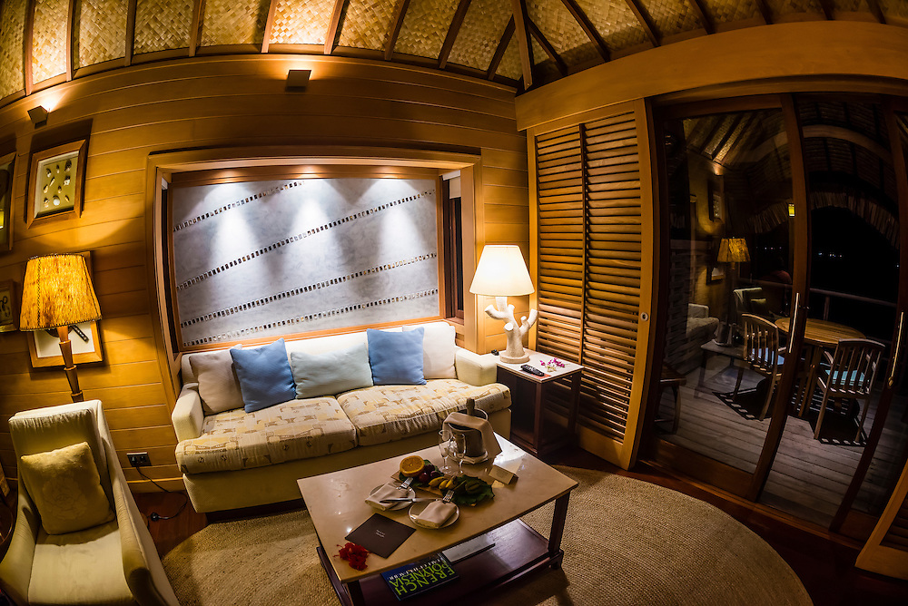 Interior Of An Overwater Bungalow Four Seasons Resort Bora