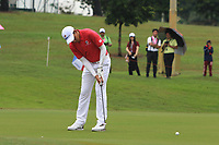Phachara Khongwatmai (Asia) on the 8th green during the Friday Foursomes of the Eurasia Cup at Glenmarie Golf and Country Club on the 12th January 2018.<br /> Picture:  Thos Caffrey / www.golffile.ie