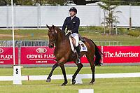 AUS-Craig Barrett (WNDELA JAMIE) 2012 AUS-HSBC Adelaide International 3 Day Event: CCI**** DRESSAGE: INTERIM-2ND