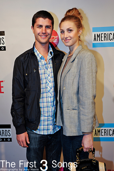 "Whitney Port from MTV's ""The City"" and boyfriend Ben Nemtin from MTV's ""The Buried Life"" attend the 2010 ""American Music Awards"" Pre-Party Charity Bowl Tournament hosted by Dick Clark Productions at Lucky Strike in Los Angeles, California."