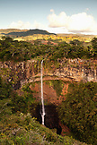MAURITIUS, Chamarel, water cascades 100 meters to the bottom of the beautiful Chamarel falls