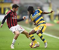 Gervinho-Davide Calabria <br /> Milano 2-12-2018 Stadio San Siro Football Calcio Serie A 2018/2019 AC Milan - Parma Foto Image Sport / Insidefoto
