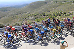 The peloton on Puerto de Alcublas 2nd Cat climb during Stage 5 of La Vuelta 2019 running 170.7km from L'Eliana to Observatorio Astrofisico de Javalambre, Spain. 28th August 2019.<br /> Picture: Eoin Clarke | Cyclefile<br /> <br /> All photos usage must carry mandatory copyright credit (© Cyclefile | Eoin Clarke)