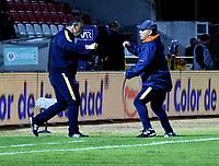 TUNJA-COLOMBIA, 29-01-2020: Jhon Jaime Gómez, técnico de Boyacá Chicó F. C. durante partido entre Patriotas FC y Patriotas Boyacá F. C., de la fecha 2 por la Liga BetPlay DIMAYOR I 2020 en el estadio La Independencia en la ciudad de Tunja. /  Jhon Jaime Gómez, coach of Boyacá Chicó F. C., during a match between Boyacá Chicó F. C. and Patriotas Boyacá F. C., of the 2nd date for the BetPlay DIMAYOR Leguaje I 2020 at La Independencia stadium in Tunja city. / Photo: VizzorImage / Edward Leguizamón / Cont.