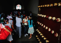Aug. 6, 2008; Beijing, CHINA; Visitors enter a tunnel into the Forbidden City in Beijing. The Olympics begin at 8pm on August 8, 2008. Mandatory Credit: Mark J. Rebilas-