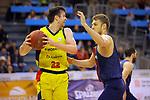 XXXVIII Lliga Nacional Catalana ACB 2017.<br /> FC Barcelona Lassa vs BC Morabanc Andorra: 89-70.<br /> John Surna vs Sasha Vezenkov.