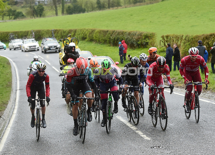Picture by Alex Broadway/SWpix.com - 01/05/2016 - Cycling - Tour de Yorkshire, Stage 3: Middlesbrough to Scarborough - Yorkshire, England - The breakaway in action.