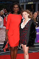 LONDON, UK. October 12, 2018: Moyo Akande &amp; Becky Fiennes at the London Film Festival screening of &quot;The Ballad of Buster Scruggs&quot; at the Cineworld Leicester Square, London.<br /> Picture: Steve Vas/Featureflash