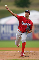 Starting pitcher Heitor Correra #16 of the Lakewood BlueClaws in action versus the Kannapolis Intimidators at Fieldcrest Cannon Stadium July 8, 2009 in Kannapolis, North Carolina. (Photo by Brian Westerholt / Four Seam Images)