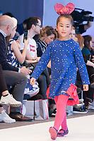 Model poses <br /> Agatha Ruiz de la Prada's fashion show during the FIMI, International Kids Fashion Fair, at Palacio de Cristal of the Casa de Campo in Madrid on January 19, 2018.
