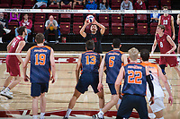STANFORD, CA - March 3, 2018: Evan Enriques at Maples Pavilion. The Stanford Cardinal lost to Pepperdine, 3-0.