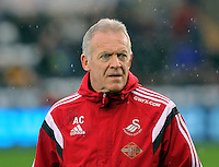 Swansea interim manager Alan Curtis before the Barclays Premier League match between Swansea City and Crystal Palace at the Liberty Stadium, Swansea on February 06 2016
