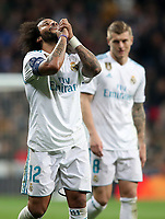Real Madrid's Marcelo Vieira (l) and Toni Kroos during Champions League Quarter-Finals 2nd leg match. April 11,2018. (ALTERPHOTOS/Acero) /NortePhoto.com