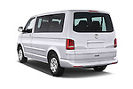 Car pictures of rear three quarter view of a 2014 Volkswagen CARAVELLE COMFORTLINE 4 Door Passenger Van Angular Rear