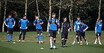 Robbie Crawford leading from the front at training