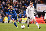 Real Madrid's Mateo Kovacic and Celta de Vigo's Marcelo Diaz during Copa del Rey match between Real Madrid and Celta de Vigo at Santiago Bernabeu Stadium in Madrid, Spain. January 18, 2017. (ALTERPHOTOS/BorjaB.Hojas)