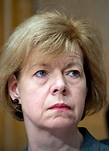 United States Senator Tammy Baldwin (Democrat of Wisconsin) at the confirmation hearing for R. Alexander Acosta, Dean of Florida International University College of Law and US President Donald J. Trump's nominee for US Secretary of Labor, before the US Senate Committee on Health, Education, Labor & Pensions on Capitol Hill in Washington, DC on Wednesday, March 22, 2017.<br /> Credit: Ron Sachs / CNP