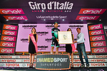 Cesare Benedetti (ITA) Bora-Hansgrohe wins Stage 12 of the 2019 Giro d'Italia and receives a potrait of the great Fausto Coppi born close by, running 158km from Cuneo to Pinerolo, Italy. 23rd May 2019<br /> Picture: Massimo Paolone/LaPresse | Cyclefile<br /> <br /> All photos usage must carry mandatory copyright credit (© Cyclefile | Massimo Paolone/LaPresse)