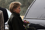 US Secretary of State, Hillary Clinton leaves the Israeli Presidential Residence in Jerusalem, following her meeting with Israeli President Shimon Peres, Tuesday, March 3, 2009. Clinton declared that the U.S. will work closely with any new Israeli government, and emphasized the necessity of a two-state solution to the Israeli-Palestinian conflict. Upon the conclusion of the meeting, which was also attended by Middle East envoy George Mitchell, Peres and Clinton spoke with the press. Throughout the day, Clinton is set to meet with Prime Minister-designate Binyamin Netanyahu, Prime Minister Ehud Olmert, Foreign Minister Tzipi Livni and Defense Minister Ehud Barak. Photo By: Tess Scheflan / JINI.