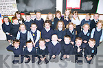 ENJOYING: The junior infants of O'Brennan National School enjoying their first day of school.   Copyright Kerry's Eye 2008