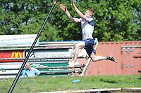 FIERLJEPPEN: JOURE: Accommodatie Koarte Ekers, Fierljepvereniging De Lege Wâlden Joure, 26-05-2012, 1e Klas wedstrijd, Junioren A, Age Hulder, ©foto Martin de Jong