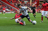 Chris Solly of Charlton Athletic tackles Seán Maguire of Preston North End during Charlton Athletic vs Preston North End, Sky Bet EFL Championship Football at The Valley on 3rd November 2019
