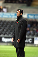 Pictured: Roberto Martínez Manager of Swansea City in action <br /> Re: Carling Cup Round Four, Swansea City Football Club v Watford at the Liberty Stadium, Swansea, south Wales, Tuesday 11 November 2008.<br /> Picture by Dimitrios Legakis Photography (Athena Picture Agency), Swansea, 07815441513