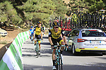 LottoNL-Jumbo riders descend Sierra de la Alfaguara after Stage 4 of the La Vuelta 2018, running 162km from Velez-Malaga to Alfacar, Sierra de la Alfaguara, Andalucia, Spain. 28th August 2018.<br /> Picture: Eoin Clarke   Cyclefile<br /> <br /> <br /> All photos usage must carry mandatory copyright credit (&copy; Cyclefile   Eoin Clarke)