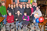 Mike Lynch Glencutane, Killorglin, pictured with some of his family and friends as he celebrated his 40th birthday in Sheahans Bar, Killorglin on Saturday night.